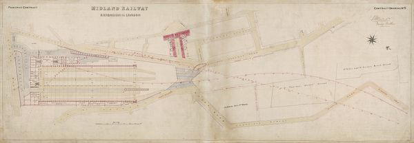 Pancras Station. Midland Railway. Plan - Approaches into St Pancras