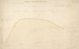 Box Tunnel. Great Western Railway. Cross section Tunnel Number 1