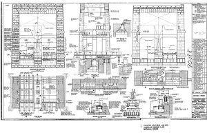 Britannia Bridge - Anglesey Tower General Arrangement [ 1970]
