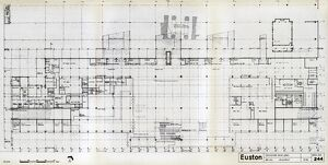 Euston Station. British Railways. Concourse Level Plan. c1964