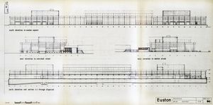 Euston Station. British Railways. Elevations. c1964
