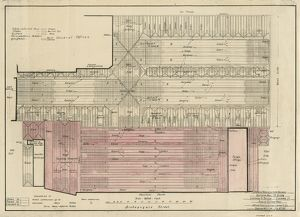 Liverpool Street Station. London & North Eastern Railway. Plan of Station Roof