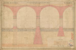 L&NWR. Drawing for foundations of Viaduct at Ditton Marsh [1864]