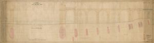 L&NWR Runcorn Branch - Bridge over River Mersey - Plan & Elevation of River Spans [1864]