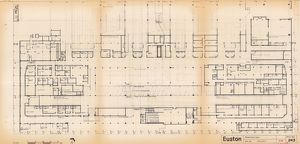 Euston Station - Basement Plan [c1964]