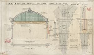 Paddington. Great Western Railway. Alterations & Details of end screen [1914]