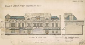 Victoria Station. SECR. Victoria Station Improvements 1906 Elevation