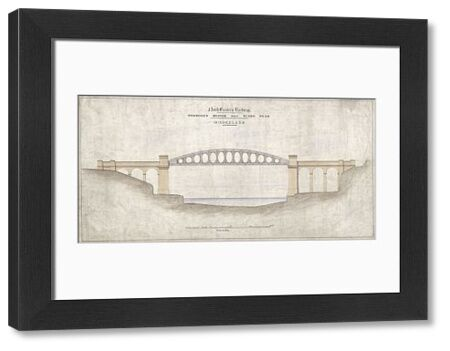 Monkwearmouth Bridge. North Eastern Railway 'Proposed bridge over River Wear' Sunderland