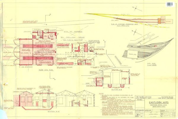 Sections and Plans of Maintenance Shed