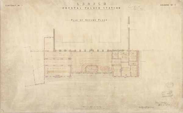 Contract No. 1 Drawing No. 1 Plan of ground floor