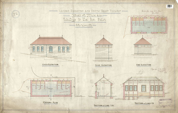 LBSC - Outbuildings for West Dean Station [Singleton Station] [1880]