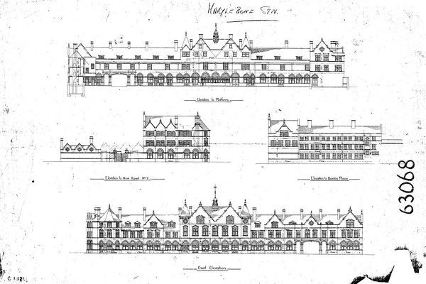Marylebone Station Please note this is a microfilm copy and not the original