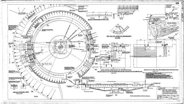 Melton Constable -- 70Ft Diar Turntable Site Plan, Layout & General Details