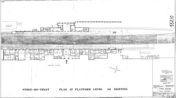 Stoke-on-Trent Station Plan as existing Please note this is a microfilm copy and not the original