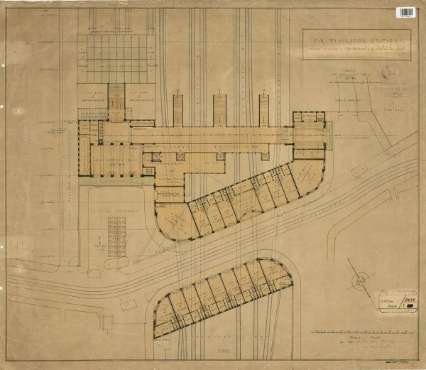 S.R. Wimbledon Station. Layout of Station [c.1929]