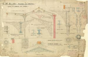 G.W.R New Station at Slough - Details of Ironwork for Covering [1882]