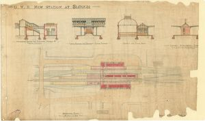 G.W.R New Station at Slough - Sections and General Plan [N.D]
