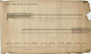 G.W.R. New Station at Cheltenham - Elevations of Platform Buildings [1892]