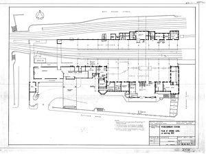 Middlesbrough Station Plan at Ground Level as existing [1963]