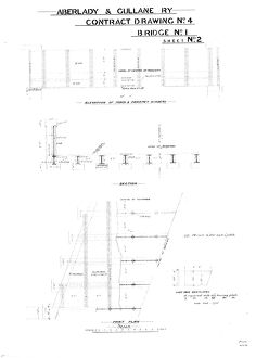 Aberlady and Gullane Railway - Contract Drawing No. 4 Bridge No. 1, Sheet 2 [1900]