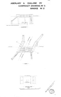 Aberlady and Gullane Railway - Contract Drawing No. 5 Bridge No. 2 [1900]