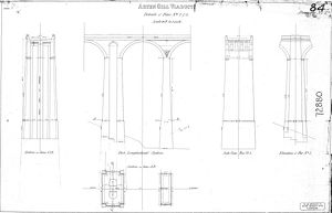 Arten Gill Viaduct Details of Piers No.s 2 and 3