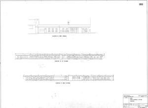 B.R. Selby Station - Station Buildings as Existing - Elevations [Mar 1963]