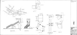 British Railways Board Smethwick Station Proposed Replacement Staircase in Steelwork [N