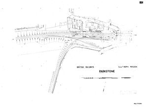 stations/parkstone station/british railways souther region parkstone track