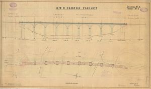 G.W.R Carnon Viaduct Drawing no.4 - Elevation and Plan of Viaduct [1931]