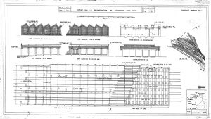 Copley Hill Reconstruction Of Locomotive Shed Roof - Elevations [1947]
