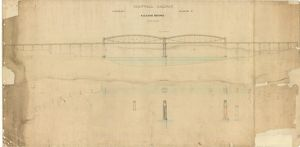 bridges viaducts/royal albert bridge/cornwall railway saltash bridge general drawing
