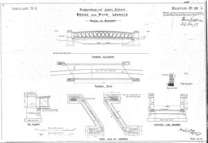 Lochearnhead and Comrie Railway - Drawing 10 - Bridge over River Lednock - Details
