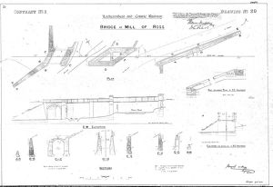 Lochearnhead and Comrie Railway - Drawing 20 - Bridge at Mill of Ross
