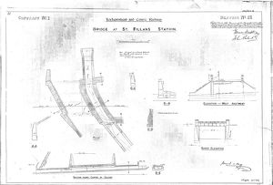 Lochearnhead and Comrie Railway - Drawing 31 - Bridge at St Fillians Station