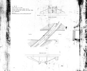 LMS Northern Division SW District - Drawings of Bridge Carrying Branch Line to Hillhouse