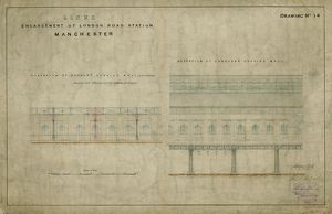 Enlargement of London Road Station Manchester. London & North Western Railway