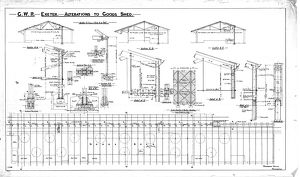 G.W.R. Exeter - Alterations to Goods Shed - Sections, plan and elevations [c.1910s]