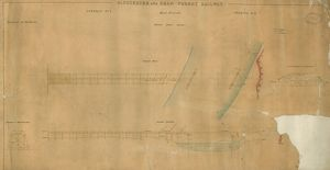 Gloucester and Dean Forest Railway. Dock Branch. Severn Draw Bridge. General Plan and Elevation