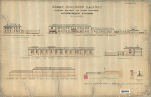 stations/peterborough station/great northern railway proposed buildings stores