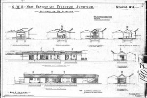 G.W,R New Station at Tiverton Junction - Buildings on Up Platform [N.D]