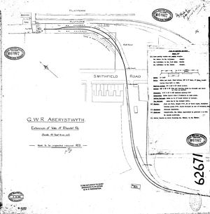 G.W.R Aberystwyth - Extension of the Vale of Rheidol Railway Track Layout [1925]
