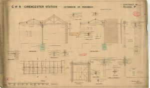 GWR Cirencester Station - Extension of Verandah [N.D]