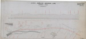 G.W.R Dawlish Avoiding Line General Plan - Contract No.10 Drawing No.1 Sheet 1 [1930s]