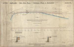 G.W.R Dawlish New Sea Wall General Plan and Elevation Drawing No. 1. [1901]