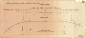 G.W.R Royal Albert Bridge Saltash - General Drawing [N.D.]