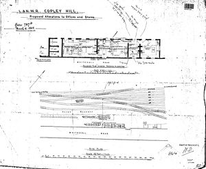 L&N.W.R Copley Hill - Proposed Alterations to Offices and Stores including Site Plan