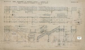 L& NWR Crewe Enlargement of Passenger Station - Details of Extension of Footbridge [c1904]