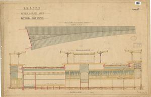 L.B. &. S.C.R. South London Line, Battersea Park Station, Drawing No. 7 - Roof plan