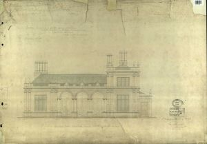 LBSCR NORTH DULWICH ENTRANCE FRONT ELEVATION TOWARDS RED POST HILL [1867]